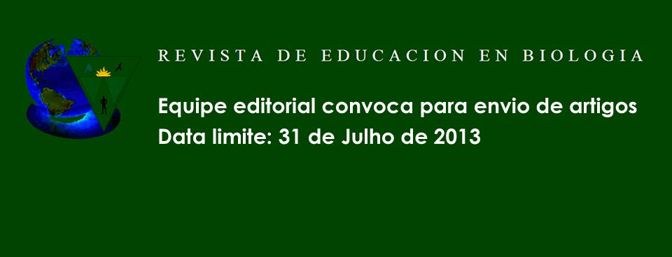 Convocatória da Revista de Educación en Biología