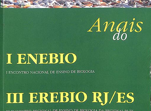 Anais do I ENEBIO & III EREBIO Regional 2