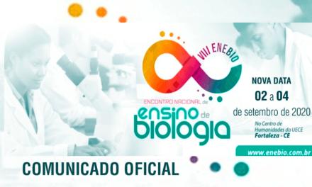 Encontro Nacional de Ensino de Biologia (VIII ENEBIO) – Comunicado Oficial