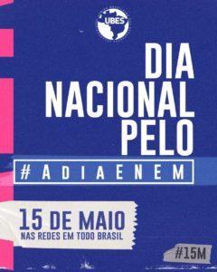 Imagem Dia Nacional pelo #AdiaEnem