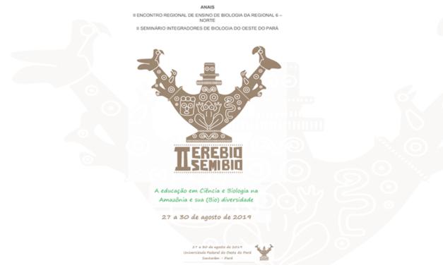 ANAIS do II ENCONTRO REGIONAL DE ENSINO DE BIOLOGIA DA REGIONAL 6 – NORTE