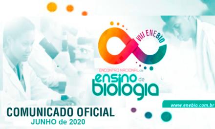 Comunicado Oficial – Adiamento VIII ENEBIO – 2020