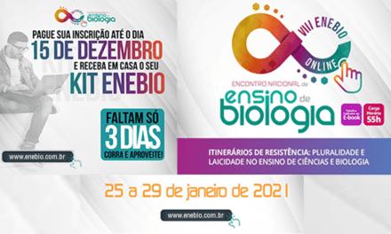 VIII ENEBIO, VIII EREBIO-NE e II SCEB vai acontecer no início de 2021