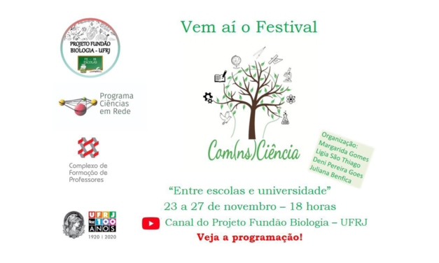 Festival Com(ns)Ciência: entre a escola e a universidade