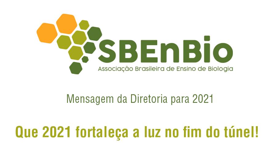 Mensagem Diretoria SBenBio para 2021