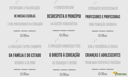 A SBEnBio junto com a Rede Comunica Educação, manifesta posição contrária ao ensino domiciliar
